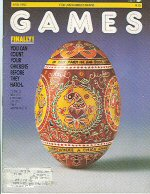 Games Magazine cover, April 1983