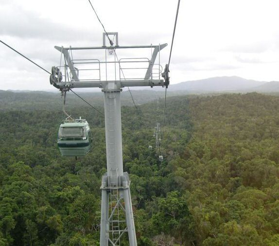 World's longest cable car ride floats high above rainforest