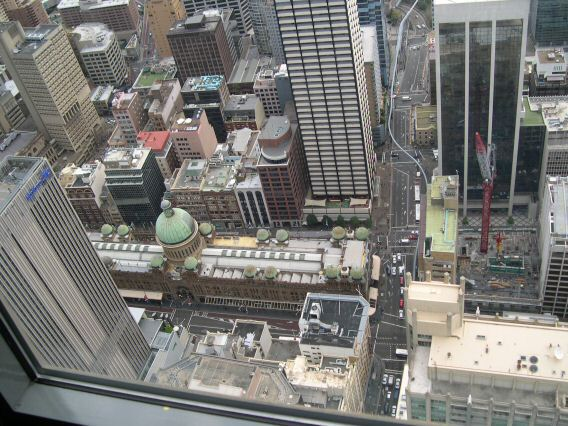 View from tower of downtown Sydney