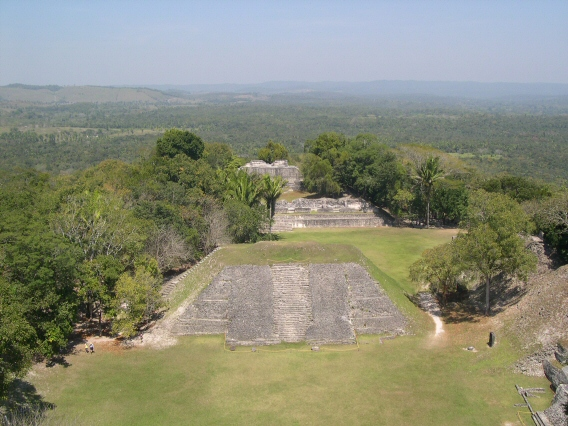 Grand view from top of temple