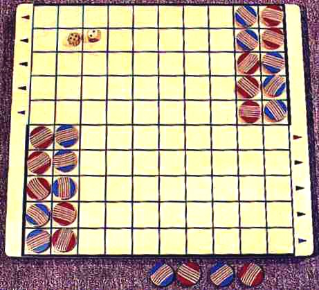 Photograph of Transpose, handcrafted wood gameboard